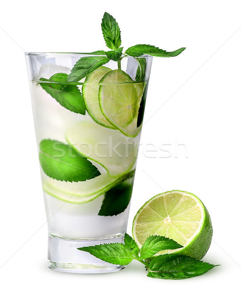 Lemonade with lime and mint Stock photo © Cipariss