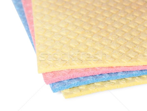 Closeup multicolored sponges for dishwashing Stock photo © Cipariss
