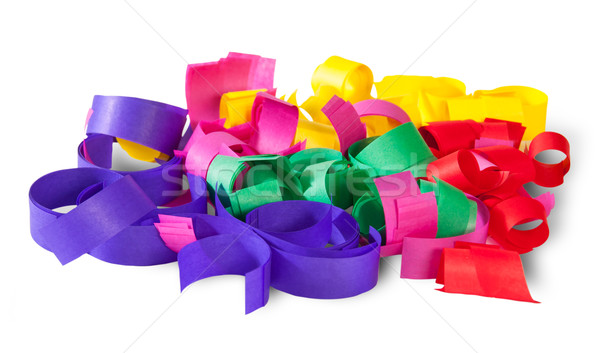 Multicolored Confetti Serpentine From Paper Stock photo © Cipariss