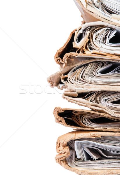 Сток-фото: старые · файла · хаотический · изолированный · белый