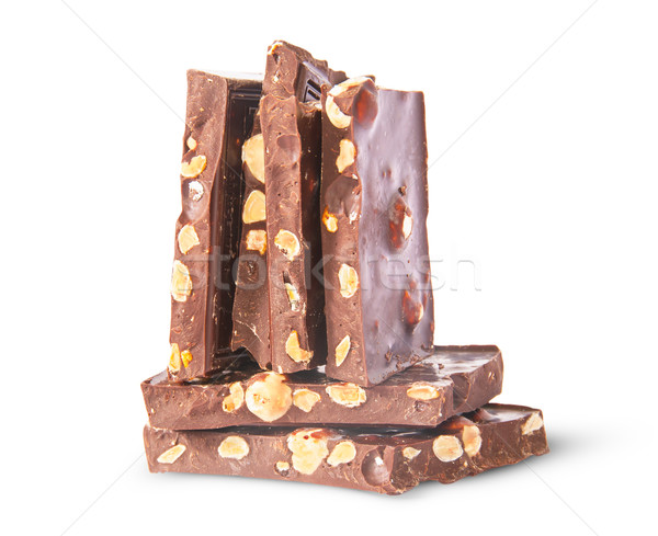 Dikey yatay çikolata çubuklar yalıtılmış Stok fotoğraf © Cipariss