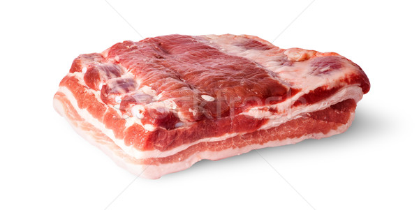 Big piece bacon rotated Stock photo © Cipariss