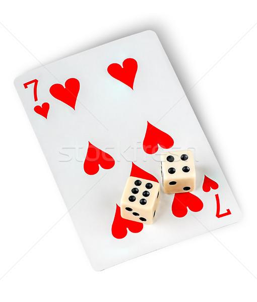 Játszik kártya izolált fehér pénz jókedv Stock fotó © Cipariss