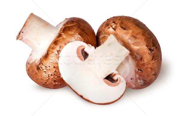 Twee geheel half bruin geïsoleerd witte Stockfoto © Cipariss