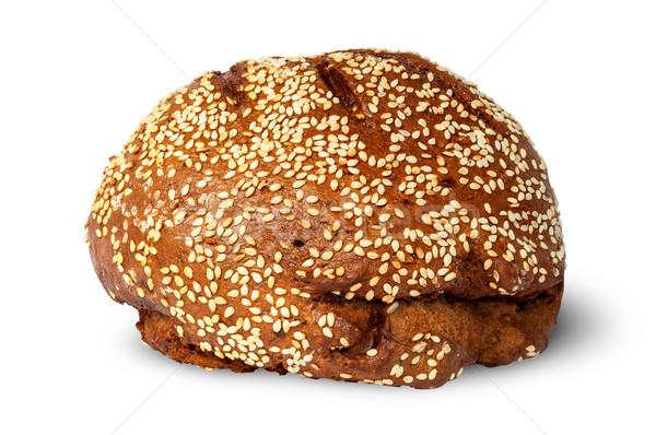 çavdar ekmek susam yalıtılmış beyaz gıda Stok fotoğraf © Cipariss