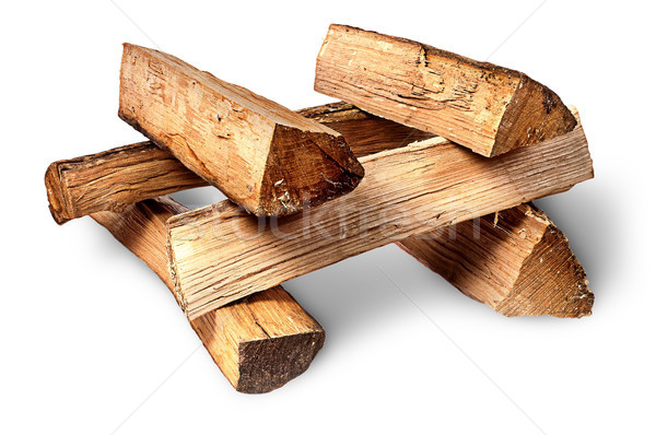 Pile of firewood stacked at each other Stock photo © Cipariss