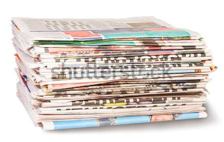 Stack Of Newspapers Bandaged Rope Stock photo © Cipariss
