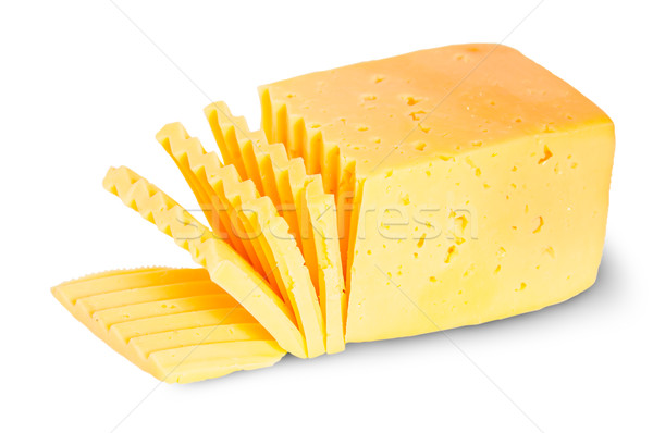 Piece Of Sliced Cheese Stock photo © Cipariss