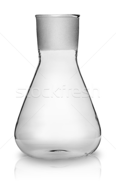 Old laboratory flask without ground glass stopper Stock photo © Cipariss