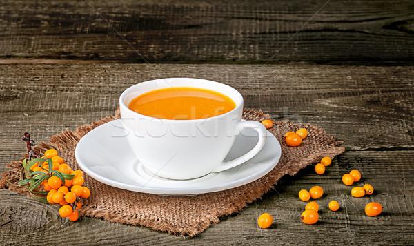 Tea of sea-buckthorn berries Stock photo © Cipariss