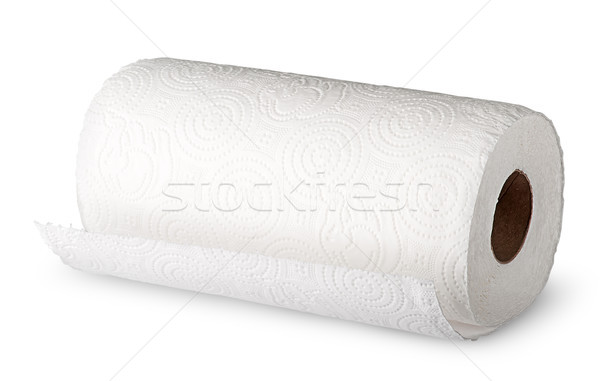 Roll white paper towels horizontally Stock photo © Cipariss