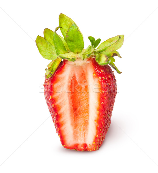 Strawberry closeup cut segment Stock photo © Cipariss