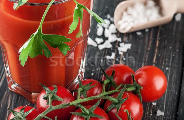 Közelkép paradicsomlé koktélparadicsom elmosódott természet egészség Stock fotó © Cipariss