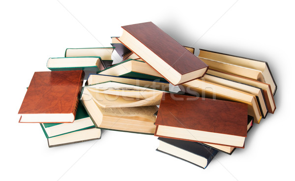Chaotically scattered old books Stock photo © Cipariss