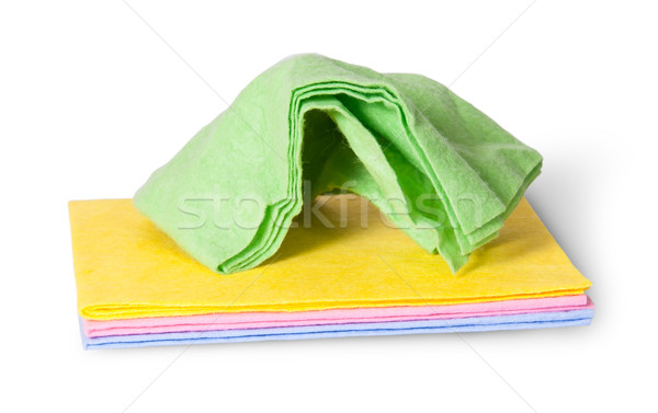 Cleaning cloths crumpled on top Stock photo © Cipariss