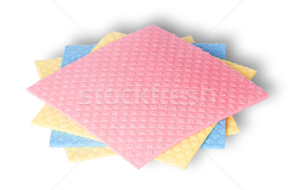 Sponges for dishwashing in a chaotic order Stock photo © Cipariss