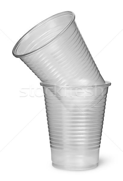 Twee plastic ander geïsoleerd witte Stockfoto © Cipariss
