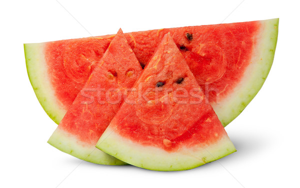 One piece and two segments of ripe watermelon Stock photo © Cipariss