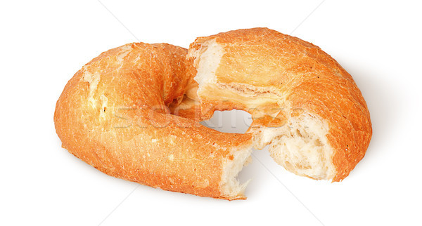Dwa sztuk pita chleba odizolowany biały Zdjęcia stock © Cipariss