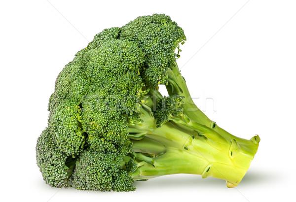 Nagy friss brokkoli izolált fehér étel Stock fotó © Cipariss