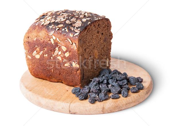 хлеб семян изюм изолированный белый Сток-фото © Cipariss