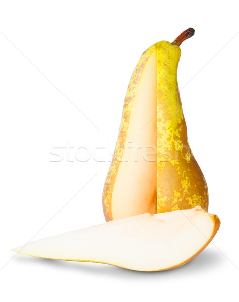 Yellow Pear With Cut Out Segment Stock photo © Cipariss