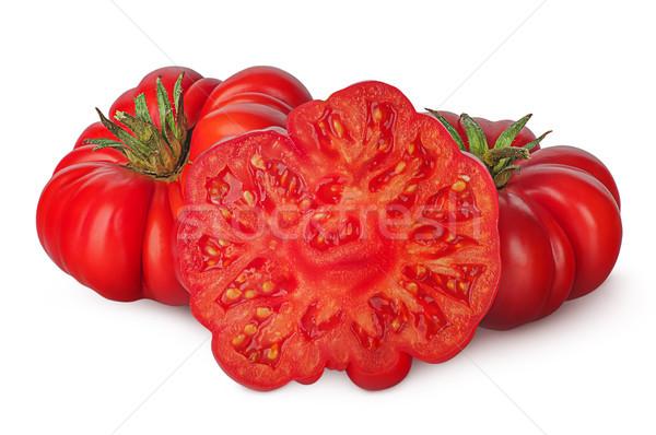 Egész paradicsomok izolált fehér étel piros Stock fotó © Cipariss
