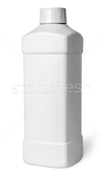 White plastic bottle of detergent rotated Stock photo © Cipariss
