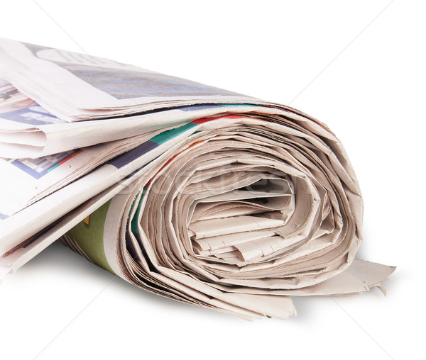 Rolled Up Newspaper Stock photo © Cipariss