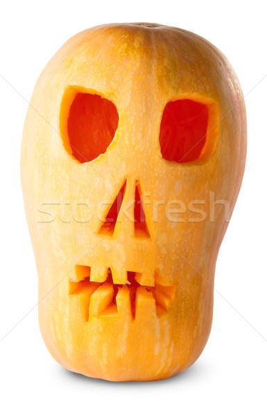 Skull Pumpkin Halloween Jack O_Lantern Stock photo © Cipariss