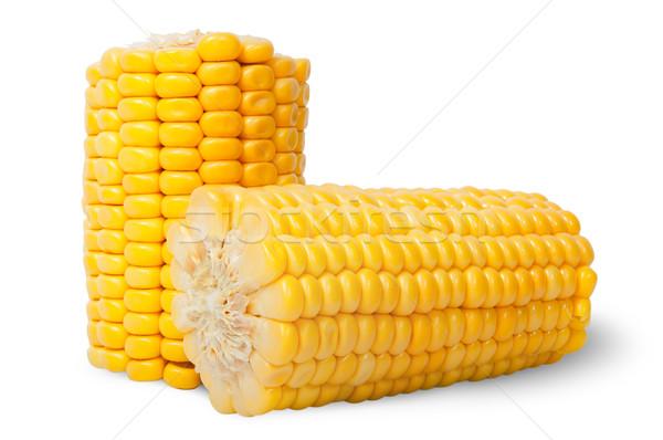 Two pieces of ripe corn cob Stock photo © Cipariss