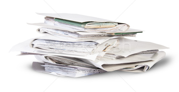 Pile of files in chaotic order rotated Stock photo © Cipariss