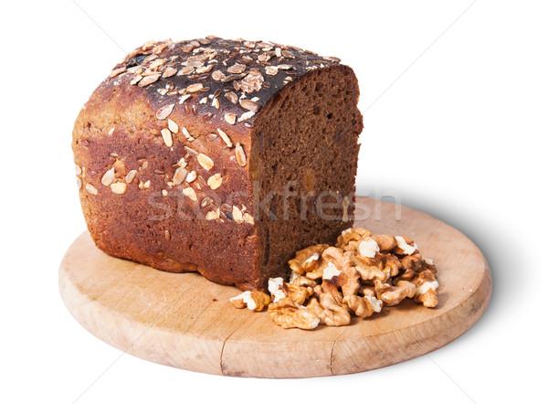 Ekmek tohumları fındık yalıtılmış beyaz Stok fotoğraf © Cipariss