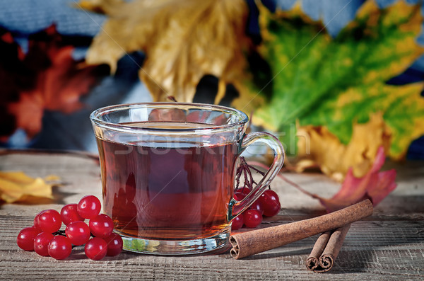 Cup of tea on a wooden table Stock photo © Cipariss