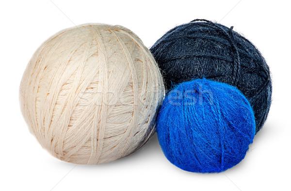 Vários lã fio diferente cores isolado Foto stock © Cipariss
