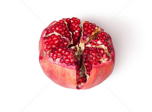 Gebroken heldere rijp heerlijk sappig granaatappel Stockfoto © Cipariss