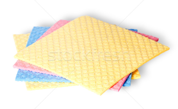 Are scattered colorful sponges for dishwashing Stock photo © Cipariss