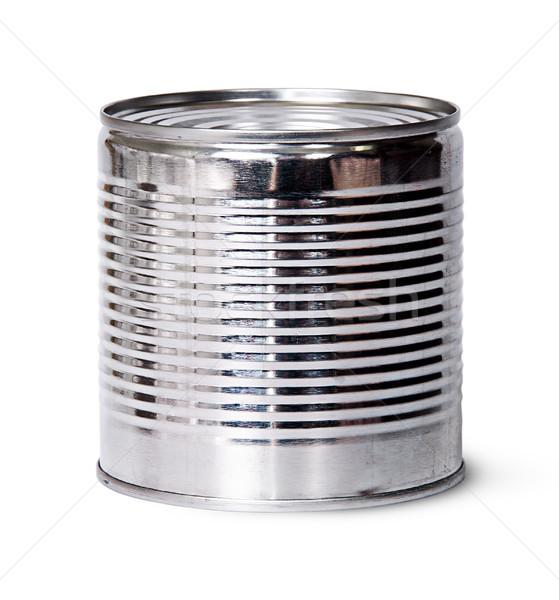 Zilver tin kan geïsoleerd witte Stockfoto © Cipariss