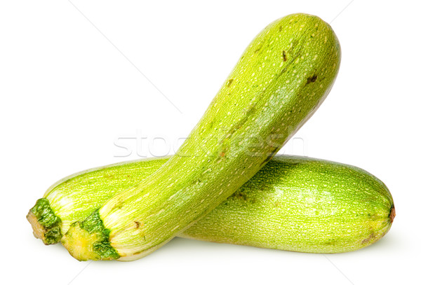 Two fresh courgette crisscross Stock photo © Cipariss