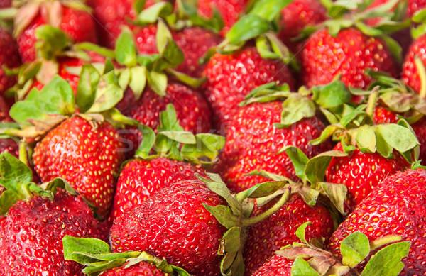 赤 イチゴ 緑 抽象的な 食品 背景 ストックフォト © Cipariss