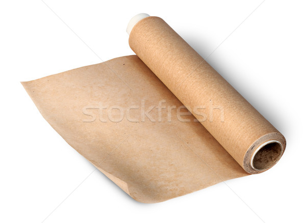 Toczyć pergamin odizolowany biały tle gotowania Zdjęcia stock © Cipariss