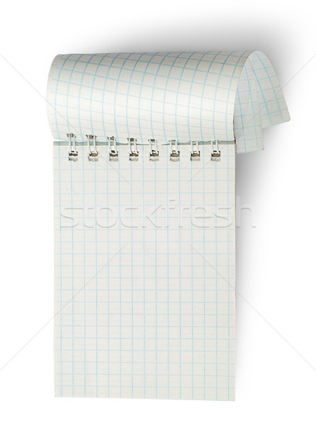 Vertical notebook with curled pages Stock photo © Cipariss
