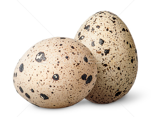 Two quail eggs beside Stock photo © Cipariss