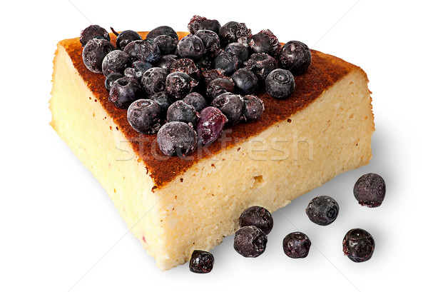 Cottage cheese casserole with frozen blueberries Stock photo © Cipariss