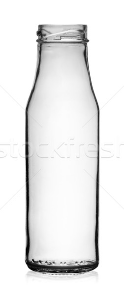 Empty transparent glass bottle without lid Stock photo © Cipariss
