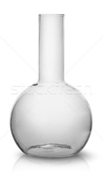 Elöl üres flaska izolált fehér gyógyszer Stock fotó © Cipariss