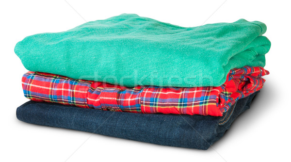 Stack Of Multicolored Casual Clothes Rotated Stock photo © Cipariss