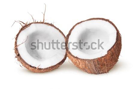 Two halves of coconut Stock photo © Cipariss