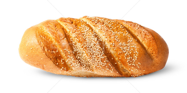 White long loaf with sesame seeds Stock photo © Cipariss
