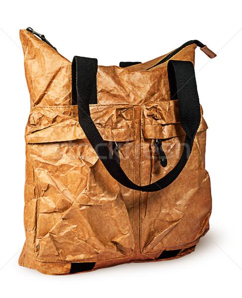 Stylish elegant paper ladies handbag rotated Stock photo © Cipariss